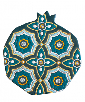 "Cheese plate ""ManeTiles"" decorative, ceramic №20"