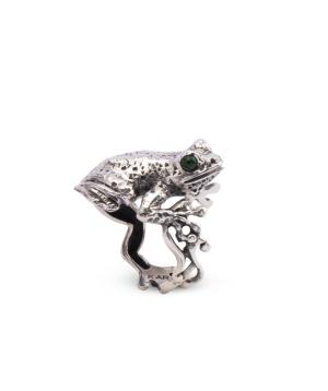 """Ring """"Kara Silver"""" Frog"""