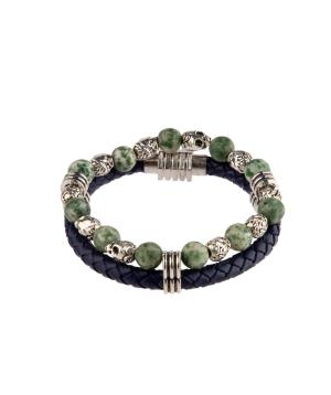 Թևնոց «Ssangel Jewelry» տղամարդու №7 կաշվե, բնական քարերով