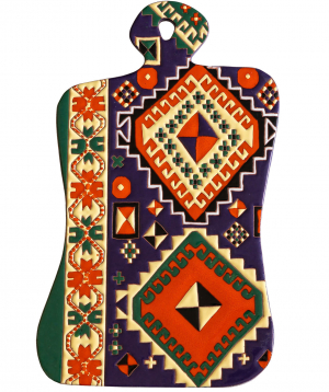 "Cheese plate ""ManeTiles"" decorative, ceramic №19"
