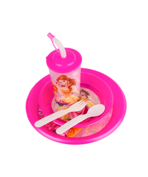 Set with plastic cup and plates №3