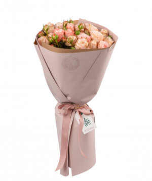 Bouquet `Ziva` with peony roses