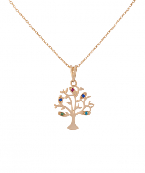 Pendant `Less is more` gold, tree №1