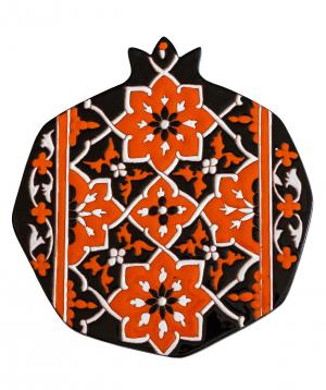 "Cheese plate ""ManeTiles"" decorative, ceramic №10"