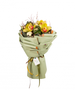 Bouquet `Chester` with orchids