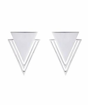 """Silver earrings """"11 Silver"""" №5"""