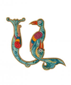 Wooden brooch `Masoor` A
