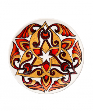 "Plate ""Taraz Art"" decorative, ceramic №8"