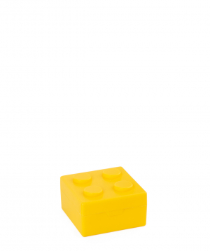 """Container """"Creative Gifts"""" for medicines, lego, yellow"""