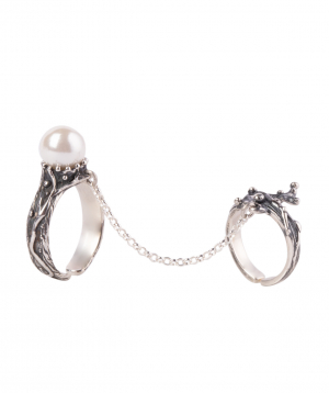 """Ring """"DF Project"""" silver №10"""