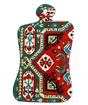 "Cheese plate ""ManeTiles"" decorative, ceramic №39"