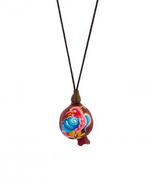 "Necklace  ""Ereqnuk"" natural pomegranate for women"