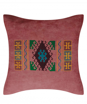 """Pillow """"Miskaryan heritage"""" embroidered with Armenian ornament №25"""