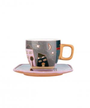 "Coffe mug ""Nuard Ceramics"" City. day-night №1"