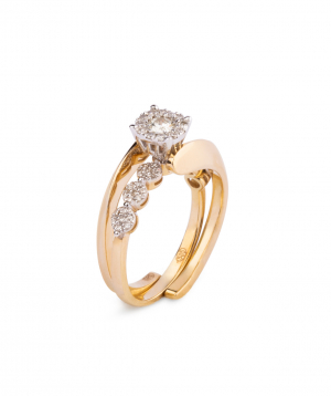 """Ring """"Less is more"""" gold №2"""