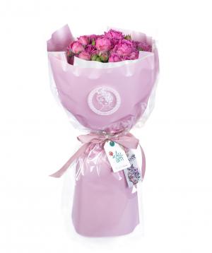 Bouquet `Seren`  bush peony rose