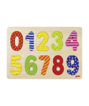 Toy `Goki Toys` number puzzle 0-9