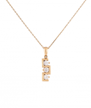 """Pendant """"Less is more"""" gold №7"""