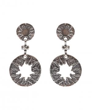 """Earrings """"DF Project"""" silver"""