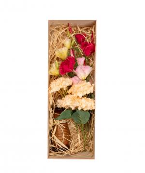 "Flowers ""Bella Flowers"" in a box, artificial №7"