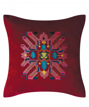 """Pillow """"Miskaryan heritage"""" embroidered with Armenian ornament №20"""