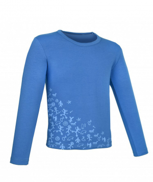 """Blouse """"Lalunz"""" long sleeved blue"""