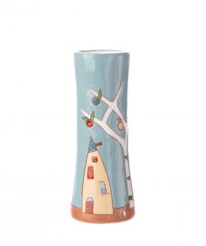 "Vase ""Nuard Ceramics"" for flowers, city"