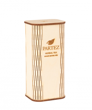 "Tea ""Partez"" in a wooden souvenir box, sweet aroma mix"