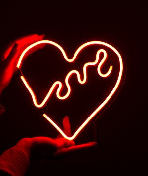 "Lamp ""Neon Signs"" neon, red heart, big"