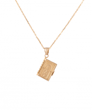 Pendant `Less is more` gold a prayer book №2
