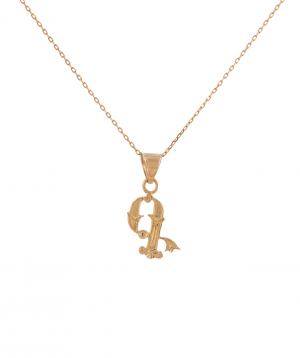 """Pendant """"Less is more"""" gold №28"""