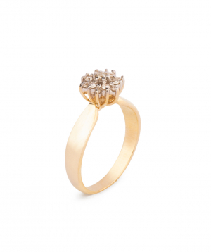 """Ring """"Less is more"""" gold №4"""
