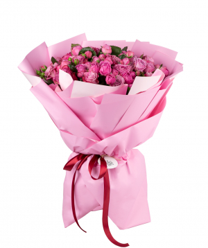 Bouquet `Pleebo` of peony roses