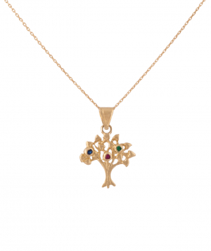 Pendant `Less is more` gold, tree №2