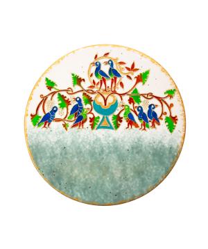 "Plate ""Taraz Art"" decorative, ceramic №12"