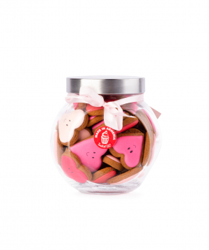 """Cookies """"Tartist""""  in a glass container"""
