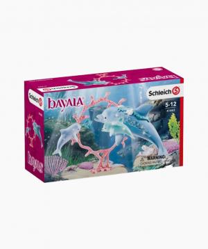 Schleich Animal figurines set Dolphin mum with babies