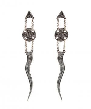 """Earrings """"DF Project"""" Lusatsin silver"""