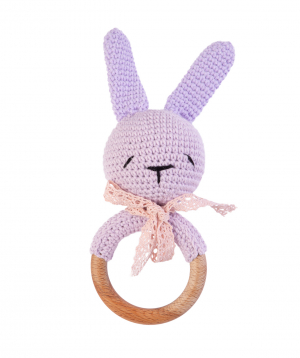 """Rattle """"Crafts by Ro"""" bunny №2"""