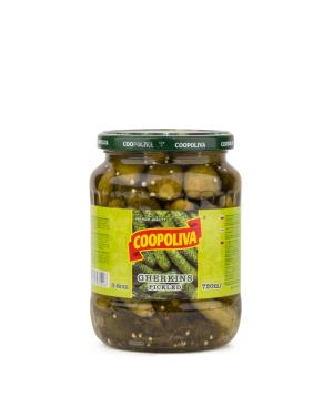 Marinated cucumber `Copoliva` 720 g