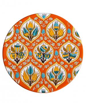"Cheese plate ""ManeTiles"" decorative, ceramic №32"