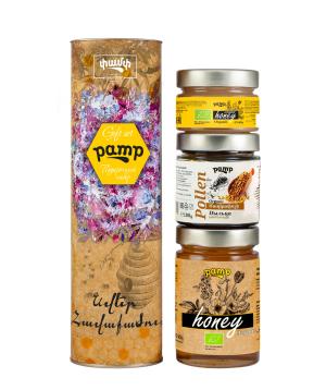 Հավաքածու «Pamp Honey» մեղրների, տուփով