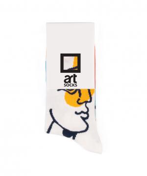 """Socks  """"Art socks"""" with """"People"""" painting"""