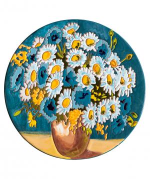 "Cheese plate ""ManeTiles"" decorative, ceramic №31"