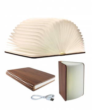 """Lamp """"Creative Gifts"""" book, artificial leather"""