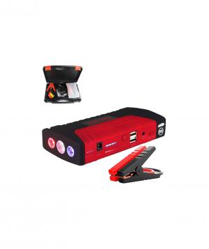Multifunctional starter for car, motorcycle + flashlight + power bank (12V, 16800Mah, red)