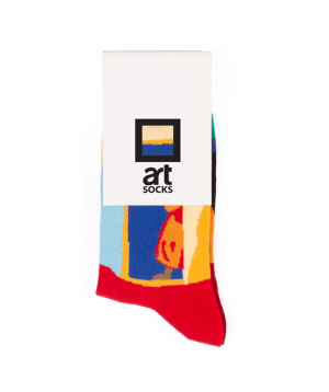 """Socks  """"Art socks"""" with """"Our village"""" painting"""