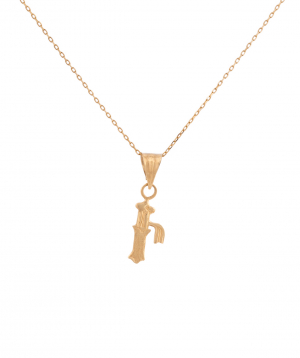 Pendant `Less is more` gold №22