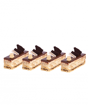 Pastry `Parma` Opera, with pear 4 pieces