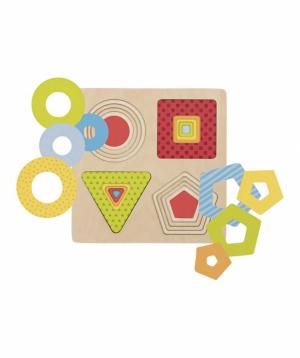 Խաղալիք «Goki Toys» շերտավոր փազլ երկրաչափական մարմիններ